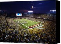 Fireworks Photo Canvas Prints - Minnesota TCF Bank Stadium Canvas Print by University of Minnesota