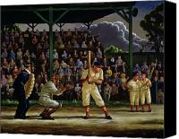 Spectators Canvas Prints - Minor League Canvas Print by Clyde Singer
