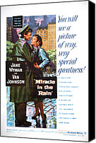 1956 Movies Canvas Prints - Miracle In The Rain, From Left Van Canvas Print by Everett