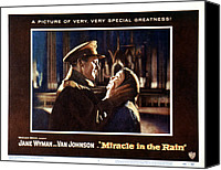 1956 Movies Canvas Prints - Miracle In The Rain, Van Johnson, Jane Canvas Print by Everett