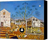 Modern Art Canvas Prints - Miro Farm Canvas Print by Granger