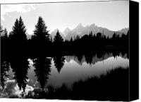White River Scene Canvas Prints - Mirrored Tetons Canvas Print by Jessica Duede