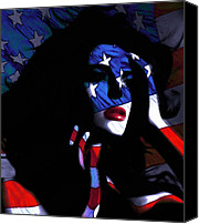 Impressionism Digital Art Canvas Prints - Miss America  Canvas Print by Stefan Kuhn
