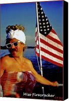 4th Of July Canvas Prints - Miss Firecracker Canvas Print by Michael Durst