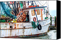 Low Country Canvas Prints - Miss Hale Shrimp Boat - Side Canvas Print by Scott Hansen