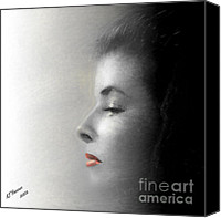 Arne J Hansen Canvas Prints - Miss Katherine Canvas Print by Arne Hansen