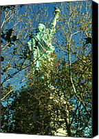 Photo-realism Photo Canvas Prints - Miss Liberty - New York Canvas Print by Peter Art Prints Posters Gallery