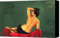 Pin Up Canvas Prints - Miss September circa 1952 Canvas Print by Cinema Photography