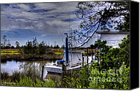 Boathouse Canvas Prints - Miss Sue Canvas Print by Benanne Stiens
