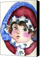 Santa Claus Drawings Canvas Prints - Miss Sugar Plum Canvas Print by Mindy Newman