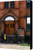 Child Canvas Prints - Missed Bus Canvas Print by RC DeWinter