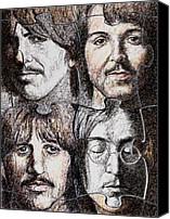 Beatles Canvas Prints - Missing Pieces Canvas Print by Maria Arango