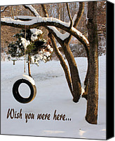 Greeting Card Canvas Prints - Missing You Canvas Print by Kristin Elmquist