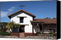 Mission Bells Canvas Prints - Mission Francisco Solano - Downtown Sonoma California - 5D19295 Canvas Print by Wingsdomain Art and Photography