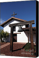 Mission Bells Canvas Prints - Mission Francisco Solano - Downtown Sonoma California - 5D19301 Canvas Print by Wingsdomain Art and Photography