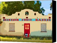 Fruit Markets Canvas Prints - Mission Fruit Market Canvas Print by Charlette Miller