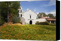 Mission Bells Canvas Prints - Mission San Diego de Alcala Canvas Print by Sharon Foster