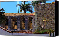Mission Bells Canvas Prints - Mission San Juan Capistrano Canvas Print by Viktor Savchenko