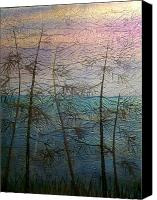 Sunset Glass Art Canvas Prints - Mist Fantasy Canvas Print by Rick Silas