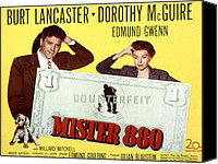 1950 Movies Canvas Prints - Mister 880, Burt Lancaster, Dorothy Canvas Print by Everett