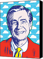 Print Digital Art Canvas Prints - Mister Rogers Canvas Print by Jim Zahniser
