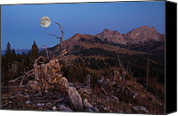Mountain Scene Canvas Prints - Mistress Of Night Canvas Print by Ars Silentium