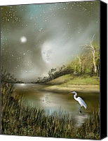 Eerie Canvas Prints - Mistress of the Glade Canvas Print by Susi Galloway