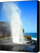 Nakalele Canvas Prints - Mists of Nakalele Canvas Print by Kenneth Johnson