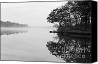 Black And White Photo Special Promotions - Misty Cove Canvas Print by Luke Moore
