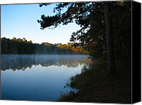 Don L Williams Canvas Prints - Misty Lake Canvas Print by Don L Williams