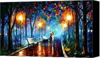 Afremov Canvas Prints - Misty Mood Canvas Print by Leonid Afremov