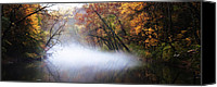 Fairmount Park Canvas Prints - Misty Wissahickon Creek Canvas Print by Bill Cannon