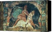 Fresco Canvas Prints - Mithras Killing The Bull Canvas Print by Granger