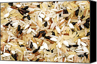 Cut Out Canvas Prints - Mixed rice Canvas Print by Fabrizio Troiani