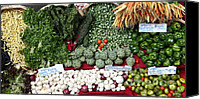 Fruit Markets Canvas Prints - Mixed Vegetables - 5D17086 Canvas Print by Wingsdomain Art and Photography
