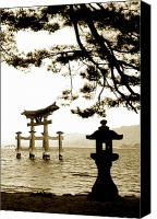 Miyajima Canvas Prints - Miyajima Island Canvas Print by Don Wolf