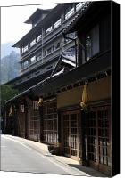 Miyajima Canvas Prints - Miyajima Street Scene Canvas Print by Andy Smy