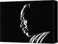 Jeff Drawings Drawings Canvas Prints - MLK Memorial Canvas Print by Jeff Stroman