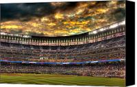 Minnesota Twins Canvas Prints - MN Twins Storm Canvas Print by Michael Klement