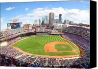 Target Field Canvas Prints - MN Twins Target Field Canvas Print by Michael Klement