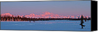 Snowy Canvas Prints - Mnt McKinley Rising Canvas Print by Ed Boudreau