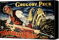 Posth Canvas Prints - Moby Dick, Gregory Peck, 1956 Canvas Print by Everett