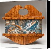 Wood Reliefs Canvas Prints - Moby Dick Canvas Print by James Neill