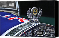 Australian Ford Canvas Prints - Model A Ford - Hood Ornament and Badge Canvas Print by Kaye Menner