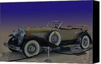 Lyon Canvas Prints - Model J LeBaron Phaeton Canvas Print by Bill Dutting