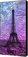 Attraction Digital Art Canvas Prints - Modern-Art EIFFEL TOWER 14 Canvas Print by Melanie Viola