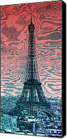 Attraction Digital Art Canvas Prints - Modern-Art EIFFEL TOWER 17 Canvas Print by Melanie Viola