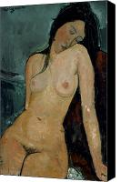 Modigliani Canvas Prints - MODIGLIANI: NUDE, c1917 Canvas Print by Granger