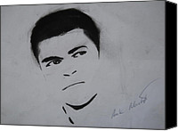 Clay Pastels Canvas Prints - Mohammed Ali Canvas Print by Ahmed Mustafa