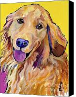 Animal Portrait Canvas Prints - Molly Canvas Print by Pat Saunders-White
